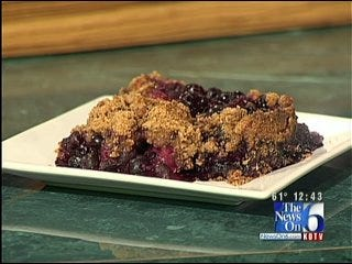 Gluten Free Peach and Blueberry Crisp with Spiced-Pecan Topping