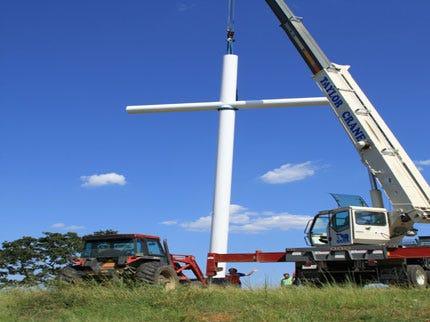 50-Foot Cross Erected In Washington County