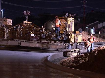 Tulsa's I-44 at Darlington Bridge Construction Changes