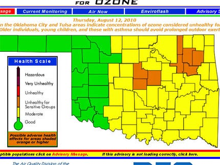 Air Quality Advisory Issued For Five Green Country Counties