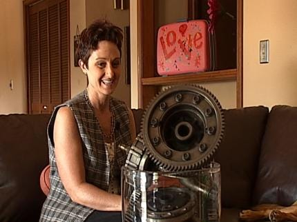 Tulsa Artist Makes Funky Art From Cast Off Objects