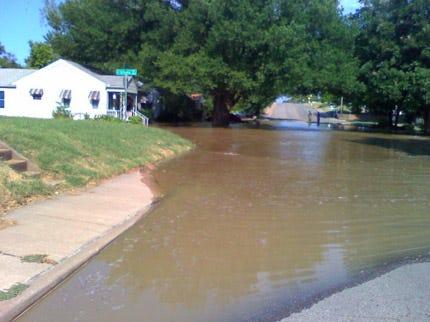 Water Main Break Floods Midtown Tulsa Neighborhood
