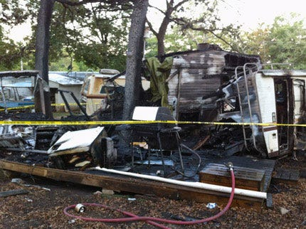 Cherokee County Man Dies In Travel Trailer Fire Early Tuesday