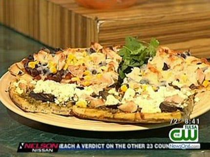 Chicken Taco And Chicken Pesto Pizza