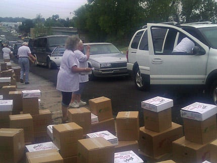 Feed The Children Delivers 3 Truck Loads Of Food To Tulsans