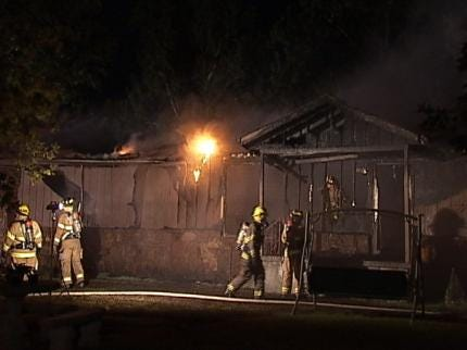 Catoosa Home Destroyed By Fire Late Tuesday