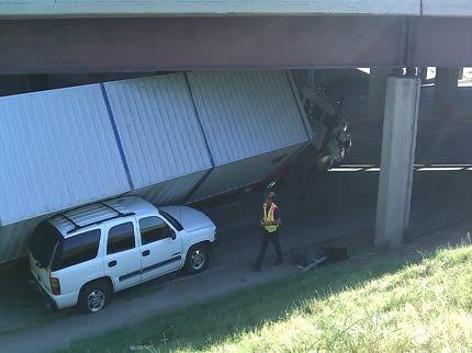 Tulsa Street Shut Down After Semi Hits Bridge