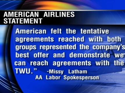 Union Employees At Tulsa's American Airlines Wait For Next Move
