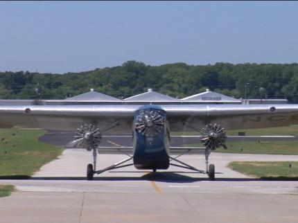 Historic 'Tin Goose' Airplane Makes Tour Stop In Tulsa