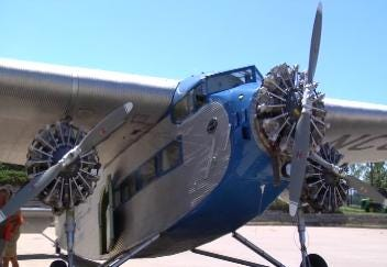 1929 Ford Tri Motor Aircraft Sells Flights at Jones Airport This Weekend