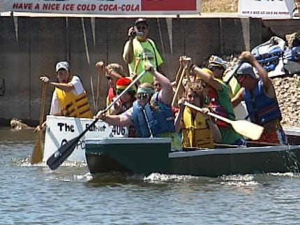 Battle Of The Boats At Muskogee's Three Forks Harbor