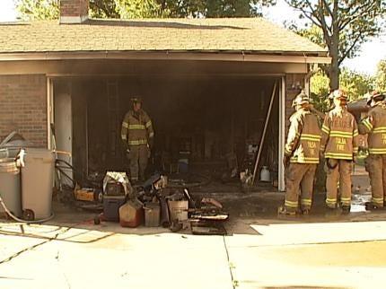 Tulsa Homeowner Fights Fire Until Professionals Arrive