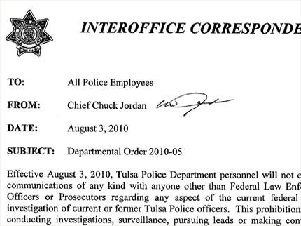 Tulsa Police Chief: No Talking To Anyone But Federal Investigators