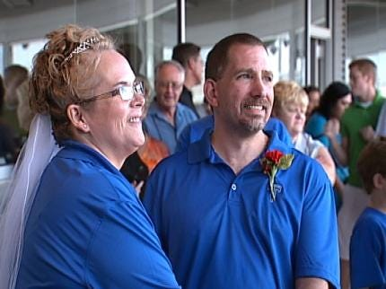 Tulsa Couple Ties The Knot At ONEOK Field