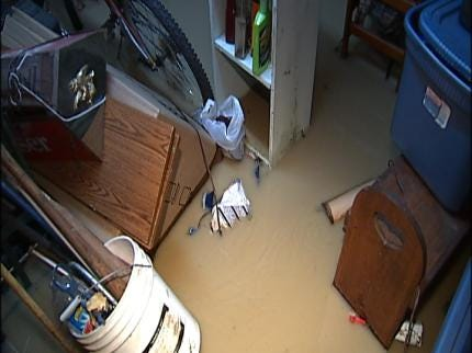 Water Line Break Floods Tulsa Home Early Friday