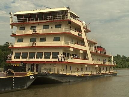 Country's Largest Tugboat Stops At The Port Of Catoosa