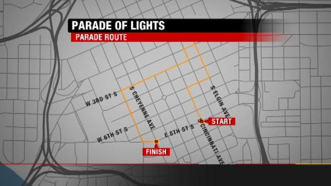 McNellie's Parade Of Lights To Shine In Tulsa Saturday Night