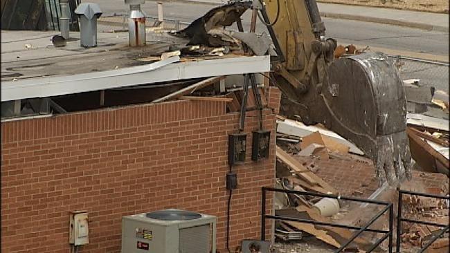 Demolition Of Tulsa OSU Medical Center Building Begins