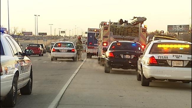 One-Car Crash On Tulsa's U.S. Highway 169 Slows Traffic