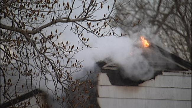 West Tulsa Home Destroyed By Fire