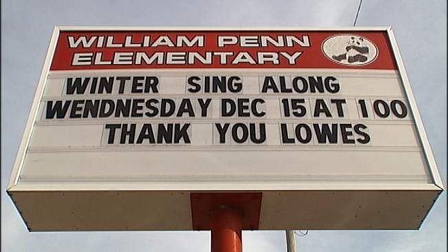 Tulsa School Gets Big Check From Lowe's Stores