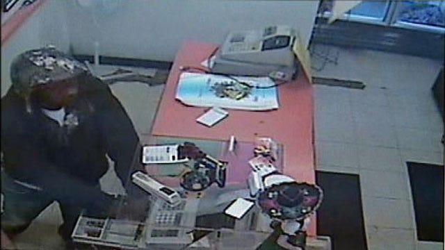 Surveillance Video Shows Man Robbing Tulsa Restaurant