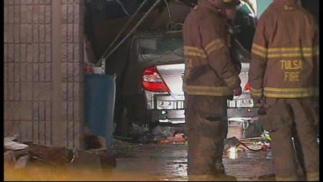 Woman With Medical Condition Plows Into East Tulsa Store