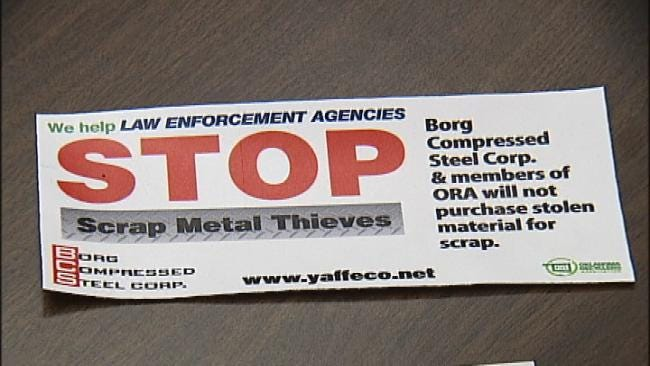 Tulsa Police, Businesses Fight Copper Theft Through Partnership