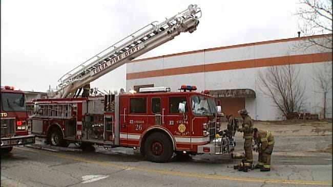 Electrical Fire Damages Tulsa Warehouse