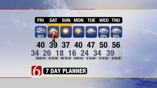 Oklahoma To See Wet Christmas Eve, Cold Christmas