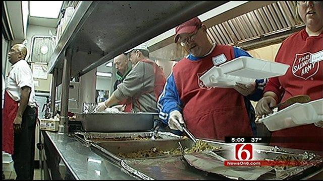Salvation Army Volunteers Spend Christmas Eve Lending Helping Hands