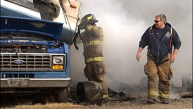 Man Suffers Second Degree Burns In Tulsa RV Fire