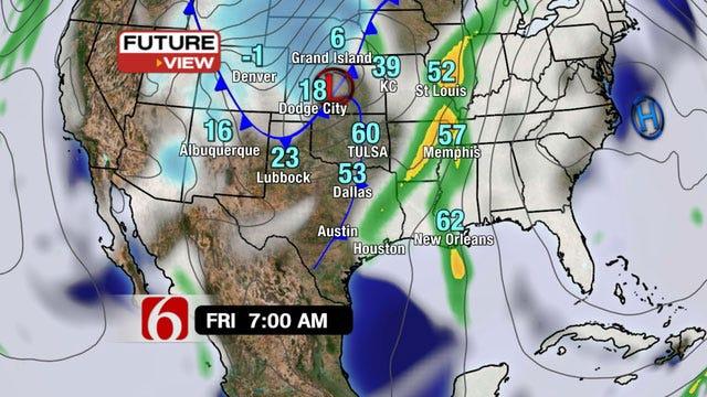 Warm Thursday, Cold Friday Evening Across NE Oklahoma