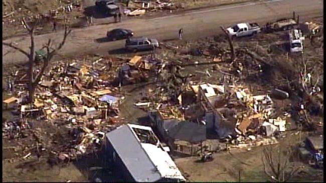 Small Northwest Arkansas Town Devastated By Deadly Tornado