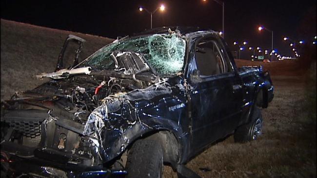 OHP: Seat Belts Help Driver, Passenger Survive Tulsa Rollover Wreck