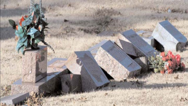 Vandals Deface Headstones At Pryor Cemetery