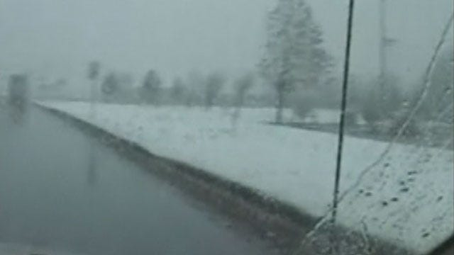 Weather System Brings Snow To Parts Of Oklahoma