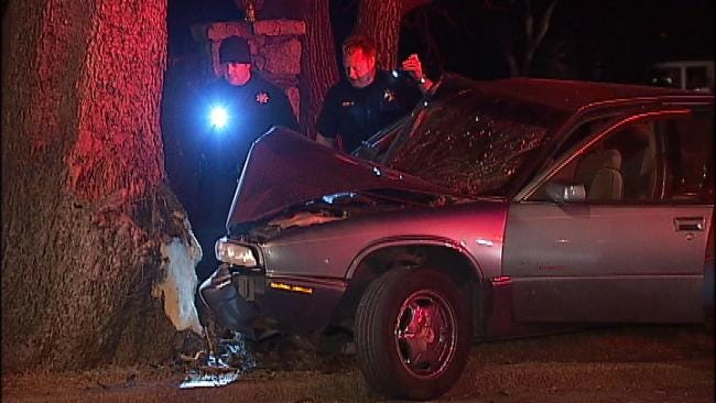 Collision With Tree Interrupts Tulsa Couple's Argument