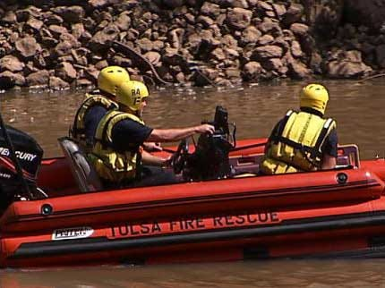 Emergency Teams Respond To Drowning In Arkansas River