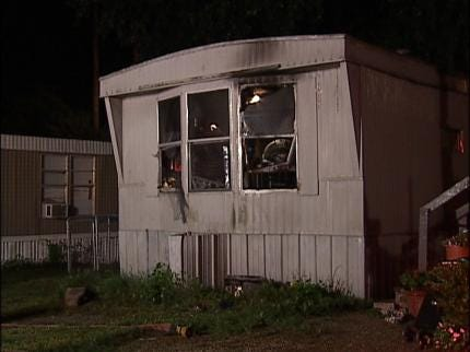 Meth Lab Found In Burning Mobile Home In Catoosa