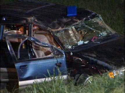 Tulsa Police Investigate I-44 Rollover Accident