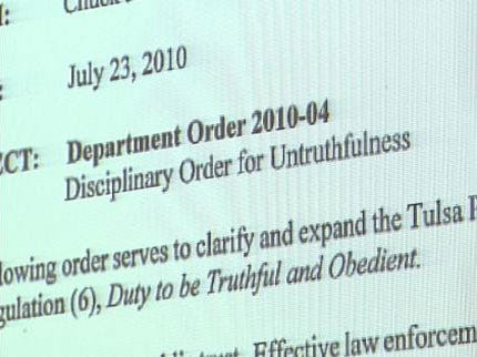 Tulsa Police Chief: Lying Results In Termination
