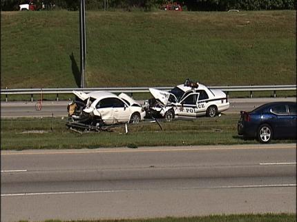 Tulsa Police Officer Involved In Car Crash On U.S. Highway 75