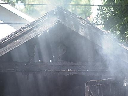 Possible Meth Lab May Have Sparked Tulsa Garage Fire