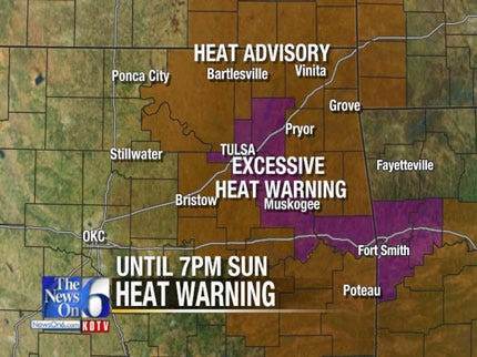 Excessive Heat Warning In Effect For The Weekend