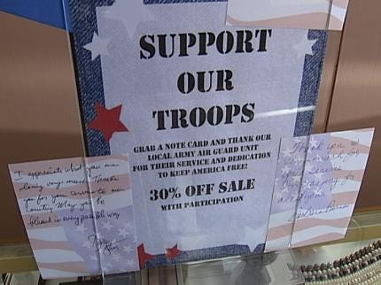 News On 6 Reports Spur Owasso Business To Show Support For Oklahomans On The War Front