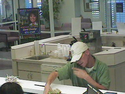 Suspect On His Cell Phone During Tulsa Bank Robbery
