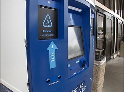 Tulsa Recycling Kiosks: A New Kind Of Vending Machine