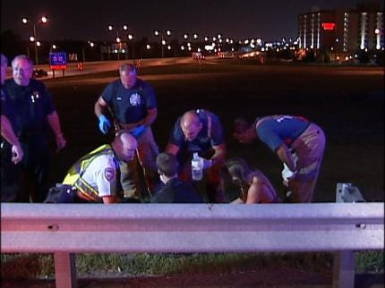 Tulsa Police: Speed And Wet Road Lead To Motorcycle Wreck