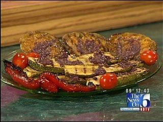 Grilled Zucchini with Kalamata Vinaigrette